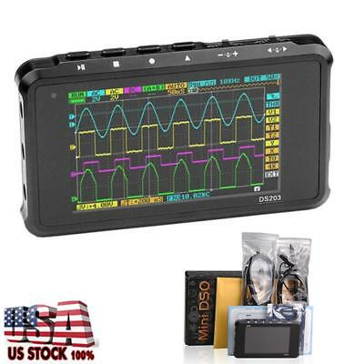 Mini DS203 LCD 4-channel Digital Storage Oscilloscope USB Interface 8MHz 72MSa/s
