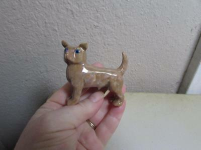 Chihuahua, Solid stone Hand carved Marble from Andes of Peru Rich Hued Stone Dog