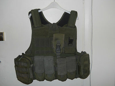 Warrior Assault Systems Plate Carrier + Pouches In Olive Drab/green
