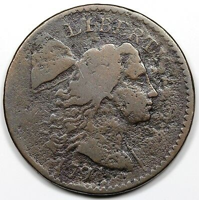 1794 Liberty Cap Large Cent, Head of '94, G-VG detail