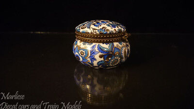 "Antique Small Lidded Trinket Pot Box 2"" Diameter"