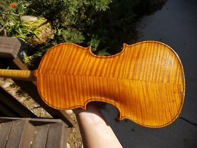 Fine Old Blonde Mathias Kloz (Klotz) 1702 Violin 4/4 High Flamed Grafted Scroll