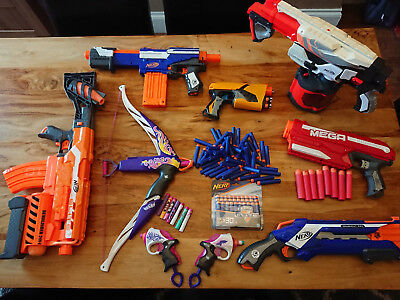 Nerf Gun Bundle - Job lot of eight guns and bullets