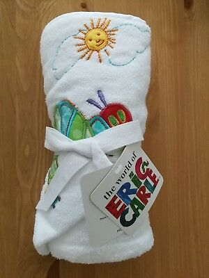 Very Hungry Caterpillar Baby Cuddle Hooded Towel Robe 100% Cotton New with Tag