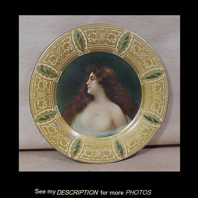 Antique 1905 Vienna Advertising Tin Art Plate Nude Litho Risque