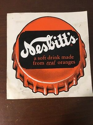 Nesbitt's Soda A Soft Drink Made from Real Oranges Vintage Decal Sign