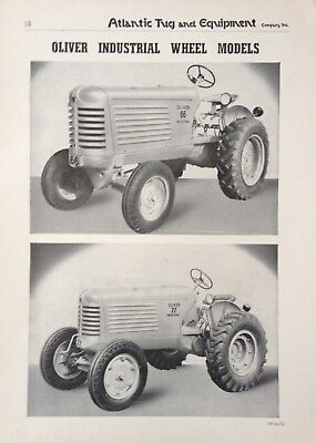 1951 Ad(Xb21)~The Oliver Model 66 And 77 Industrial Wheel Model Tractor's