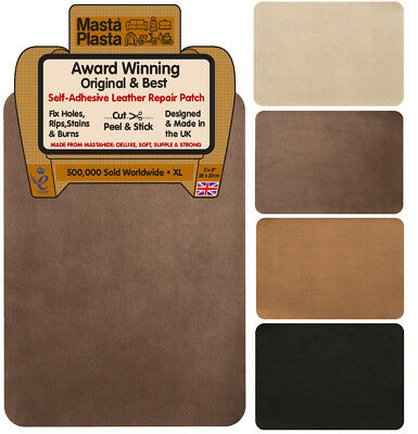 SUEDE MastaPlasta Self-Adhesive Instant Repair Patch XL 28x20cm. Fix holes, rips