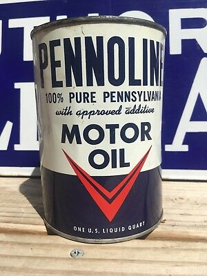 Very clean NOS FULL Pennolene Quart oil Can outboard very nice!