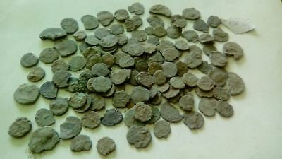 Lot Of 130 Ancient Bronze Roman Coins Bad Quality Uncleaned