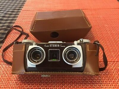 Mint Kodak 1950's Stereo Camera, Mint Condition Inside And Out With Case!!!