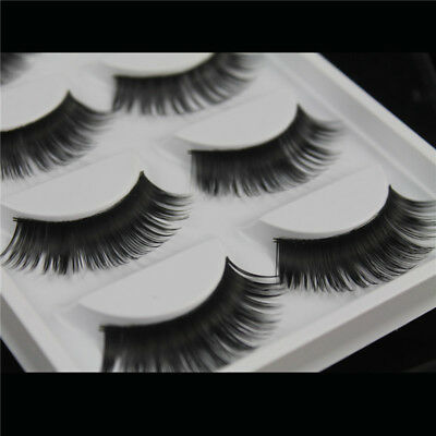 5 Pairs False Eyelashes Long Thick Natural Fake Eye Lashes Set Mink Makeup