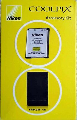 Genuine Original Nikon Coolpix Accessory Kit + EN-EL19 Battery Pack & Carry Case