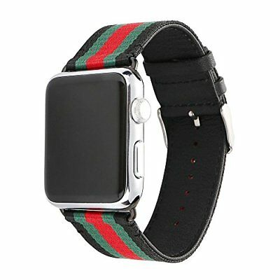 Red Green Black Apple Watch Band Strap Replacement Wrist Brace Gucci 42mm