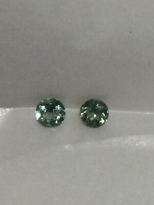 Genuine Natural Alexandrite Color Change Round 2.42 MM Pair  .17 Cttw.