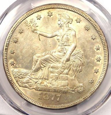 1877-CC Trade Silver Dollar T$1 - Certified PCGS Uncirculated Details (MS UNC)