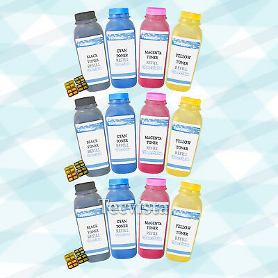 3 Sets Color Toner Refill Kit W/ CHIPS for Samsung CLP-300 CLX-2160N CLX-3160FN