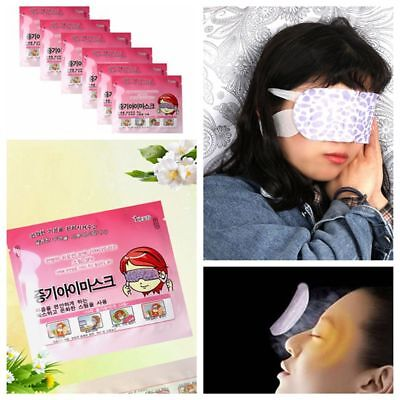 10 Pcs Anti-Puffy Steam Eye Mask Self-Heating Sleep Relaxing Sleeping Patch