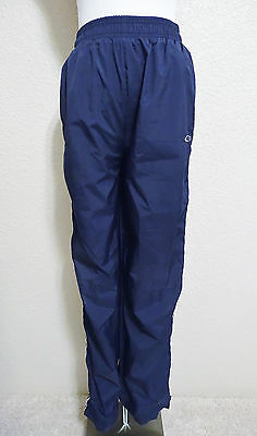 Youth CHAMPION Athletic Sweat Track Pants Poly/Cotton Blend Navy Blue Size XL