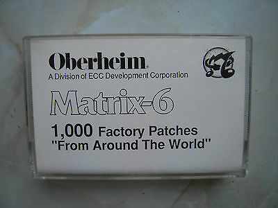 Oberheim Matrix 6 1000 Factory Patches Original Cassette Tape  Volume 12