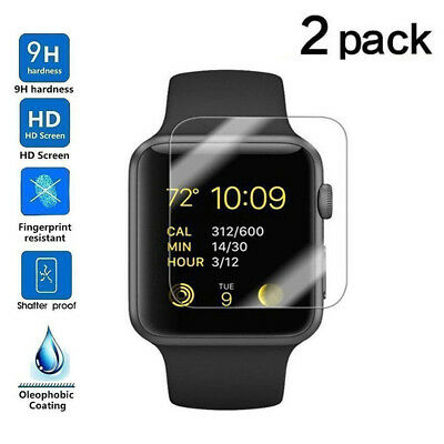 Tempered Glass Screen Protector Film For iWatch Apple Watch Series 1/2/3 38/42mm