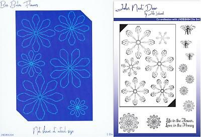 John Next Door Bee Balm Collection Flowers Die & Co-ordinating A5 Stamp Set