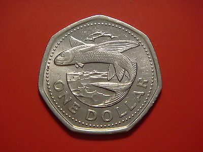 2008 Barbados 1$ 1 Dollar  Flying Fish