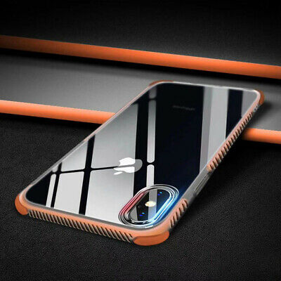 For iPhone XS Max XR X 8+/7 Ultra Thin Soft TPU Clear Back Shockproof Case Cover