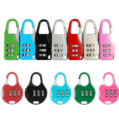 7Colors Alloy Code Suitcase Lock Luggage Dial Password Digit Combination New