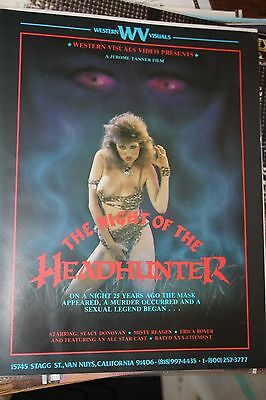 vintage magazine ad advertising print 1985 NIGHT OF THE HEADHINTER staci donovan