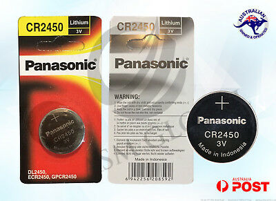 Panasonic CR2450 DL2450 3v Lithium Battery coin cell individual pack brand new