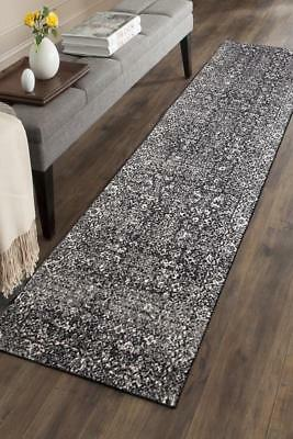 Hallway Runner Hall Runner Rug Modern Black 4 Metres Long Premium Edith 252