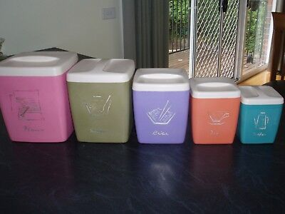 Vintage Nally Kitchen Canisters