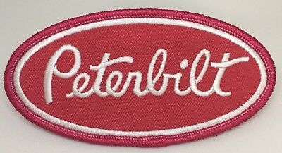 "Peterbilt Iron/sew On Patch Made In The USA! 4"" Long X 2"" Tall."
