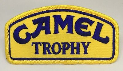"Camel Trophy Land Rover Iron/sew On patch. Made In The USA. 2"" Tall X 4"" Wide."