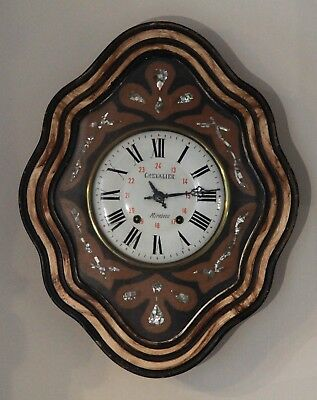Large French Antique 'Oeil de Boeuf' Vignerons Wall Clock