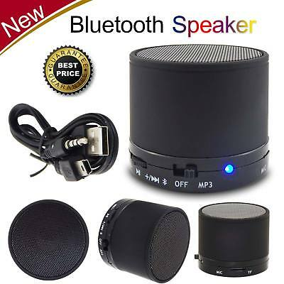Mini Bluetooth Wireless Portable Speaker For Mobile MP3 Phone Tablet  Black UK