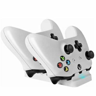 Dual Charging Dock+2 Rechargeable Battery Pack For XBOX One/S Controller TU