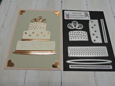 Craft Metal Die compatible to use with Cuttlebug or Sizzix - Cake