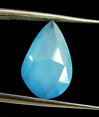 2.50 Ct Natural Blue Chalcedony Loose Faceted Gemstone Beautiful Stone - 10840