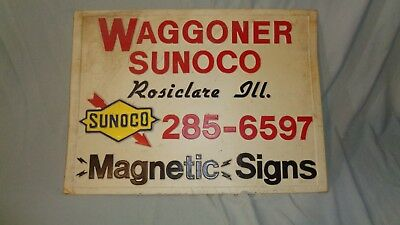 Vintage Sunoco Station - Magnetic Sign - For Magnetic Signs - Rosiclare IL