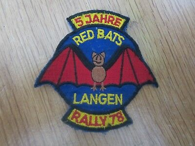 Mc Patches 5 Jahre Red Bats Mc Langen Rally 78 Biker Patch Rocker Aufnäher