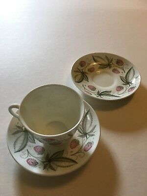 Susie Cooper Wild Strawberry -  Two Saucers and 1 cup.