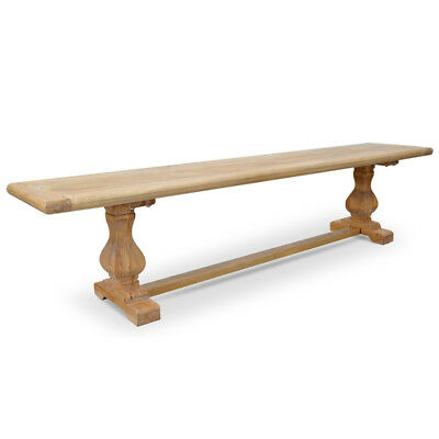 Classic Antique Design Rustic Raw Natural Elm Timber Wood Coffee Table Bench