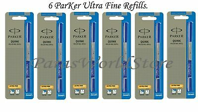NEW QUINK PARKER ROLLERBALL ROLLER BALL MEDIUM Pt Refill BLACK 2//Pack 32215