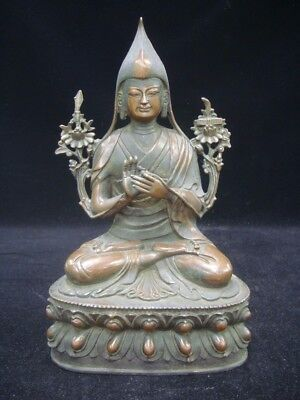 Fine Quality Large Rare Old Chinese Bronze Buddha Seated Statue