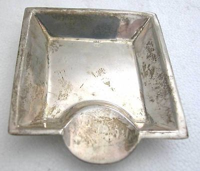 An Interesting Art Deco-Arts And Crafts Antique Solid Silver 900 Ash Tray