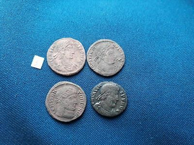 Lot of 4 Ancient Roman bronze coin