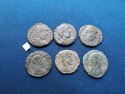 Lot of 6 Ancient Roman bronze coin