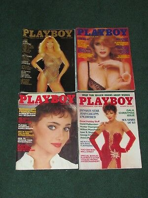 LOT OF 4 PLAYBOY MAGAZINES August/October/November/December of 1983